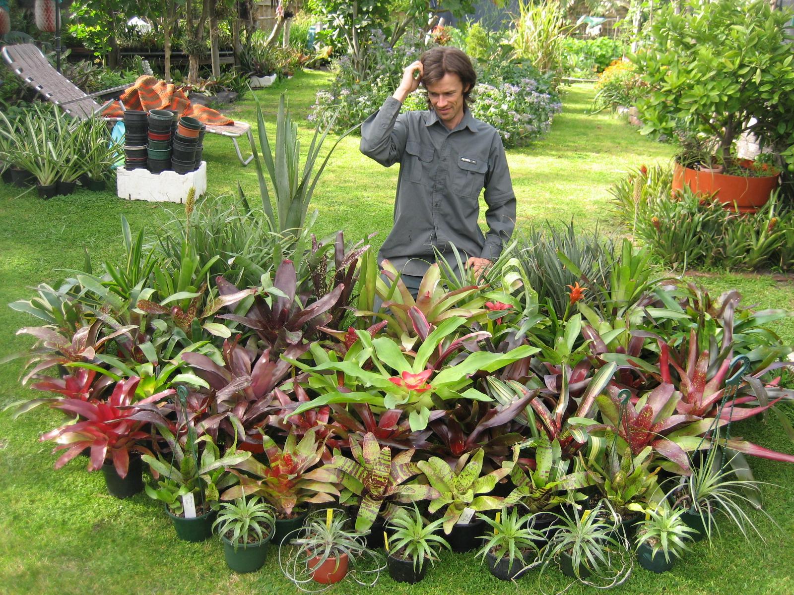 Brendan Rohan in the Garden